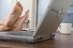Feet and computer