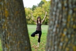 girl yoga tree