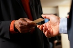 Handing biz card
