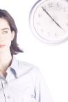 woman clock